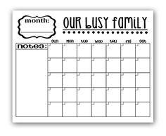 1000+ ideas about Calendar Templates on Pinterest
