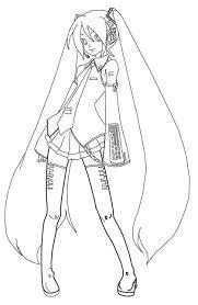 Dibujos Para Colorear De Hatsune Miku Páginas Para