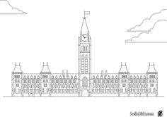 How to Draw Big Ben Coloring Page: How to Draw Big Ben