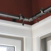 RCKA Curtain rod corner connector black  Bay window