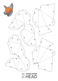 Make your own Wolf Mask Animal Mask Instant Pdf by