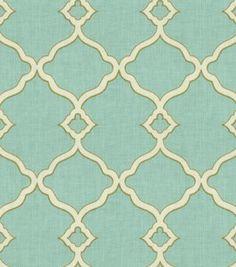 Waverly Upholstery Fabric Lovely Lattice Lapis Print