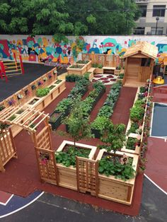 Nice Blog About School Gardens I Seriously WISH This Could Happen