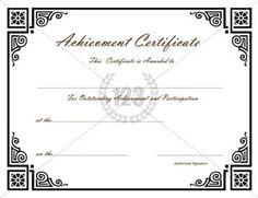 1000+ images about Achievement Certificate on Pinterest