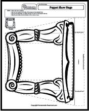 Puppet Stage Coloring Page Template Sketch Coloring Page