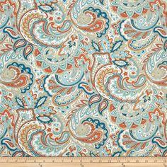 Cynthia Rowley Paisley Fabric Shower Curtain Burnt Orange