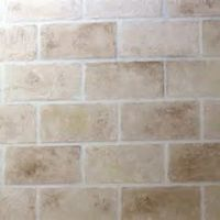 Painting Faux Stone Wall ... (thinking of doing this to ...