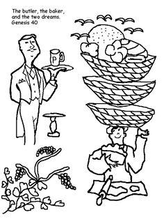 Joseph Interprets The Cupbearer's Dream Cutout Sheet