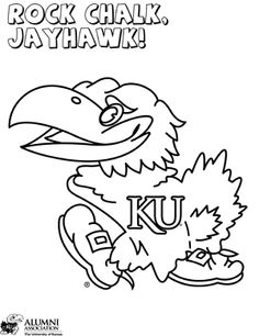 Download your free Kansas Jayhawks Stencil here. Save time