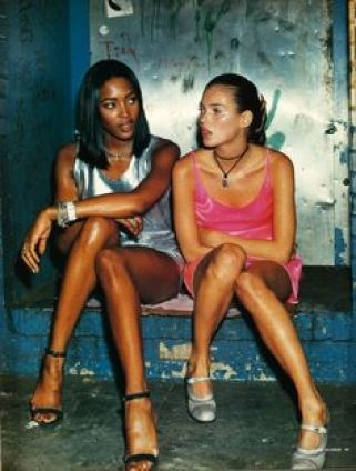 Naomi Campbell and Kate Moss photographed by Steven Klein, styled by Edward Enninful for i-D August 1994