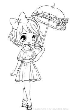1000+ images about Dolls & Mangas a colorier on Pinterest