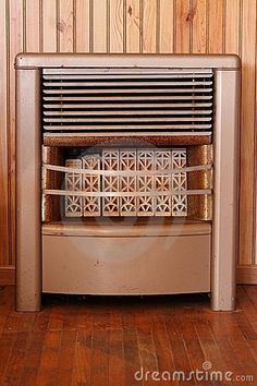 Vintage Dearborn BTU Natural Gas Space Room Heater With Ceramic Grates Bricks  More Natural gas