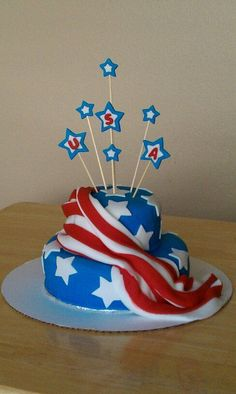 1000 ideas about American Flag Cake on Pinterest  Flag