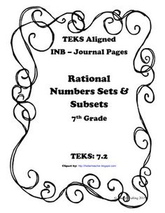Interactive Math Journal Pages that align to the TEKS!This