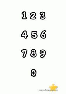 numeros para imprimir del 1 al 50 CON DIBUJOS