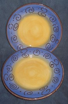 New Tabletops Unlimited Mazzana Hand Painted 11 Dinner Plate