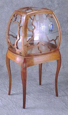 Antique Oak Secretary Desk Drop Front With Side Curio Cabinet Glass Door Secretary Desks