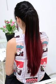 red dip dye hair hairspiration