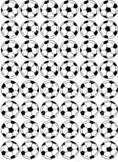 Printable soccer ball border. Use the border in Microsoft