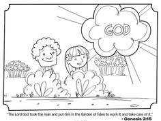 Adam and eve bible, Coloring pages and Bible coloring