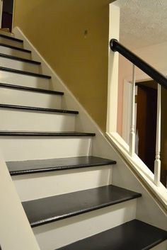 1000 Images About Black Stair Treads On Pinterest Painted Stairs Stairs And Staircases