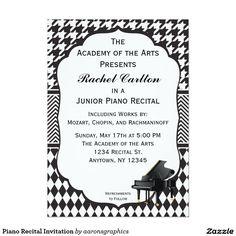piano recital maestro--free recital invitation templates