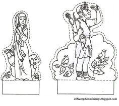 Rebekah watering Abraham's servant's camel (Genesis 24) by