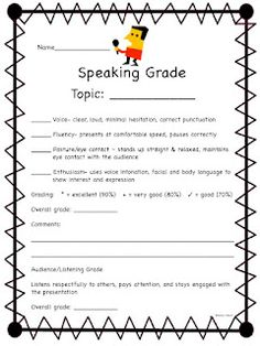 Oral Presentation Rubric http://www.readwritethink.org