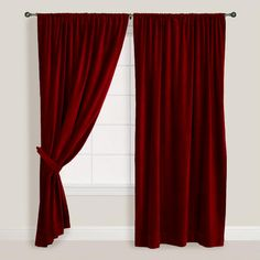 Claret Red Vintage Cotton Velvet Curtain Overstock™ Shopping