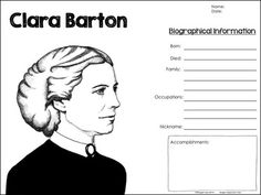 Clara barton, Times for kids and Timeline on Pinterest