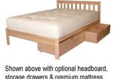 Amazon Twin Size Trundle Bed Frame Unfinished Wood