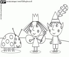 Print off this Ben colouring in picture from Ben & Holly's