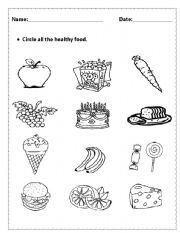 REPIN Healthy Food Worksheets. Plenty of free printable
