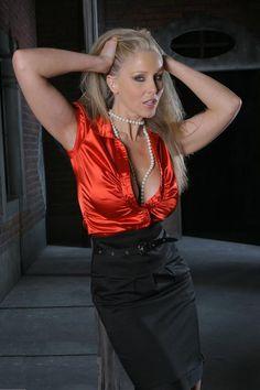 satin blouses milf