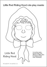 Little Red Riding Hood role-play masks from SparkleBox