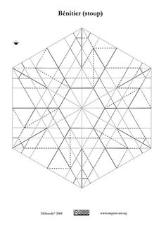 Origami: CP 3D Star. Designed by Francesco Guarnieri