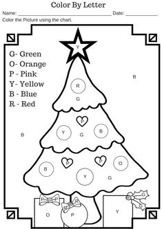 A bunch of Christmas color by number worksheets