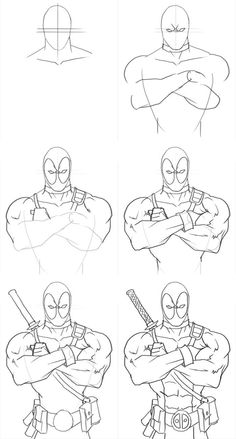 How to draw Spiderman. Learn to draw comics superhero