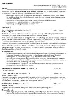 Career Profile Examples For Resume