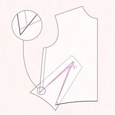 Create French dart from a basic block. Block Paper
