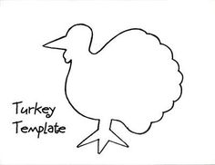 Turkey pattern. Use the printable outline for crafts