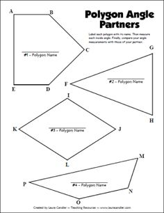 QUADRILATERAL HIERARCHY CHART (WITH SHAPE CARDS AND KEY