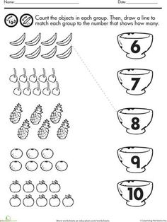 belajar hitung angka 1-20, lembar latihan matematika untuk