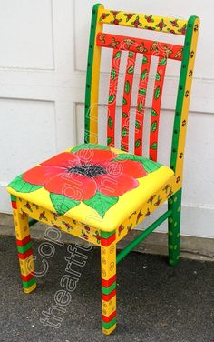 1000 ideas about Hand Painted Chairs on Pinterest