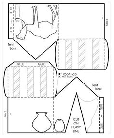 Abrahams tent craft: read the story of Abraham and the 3