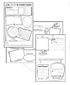 Country Report ~ Create a 6 page ~ flip book style