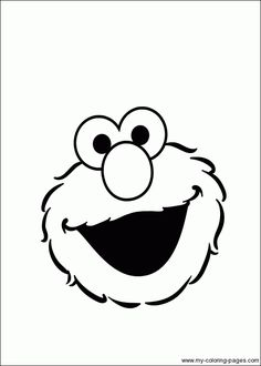 Template of Elmo's face for printing. Also like the idea