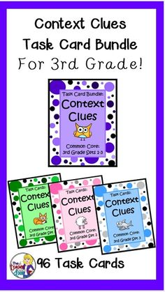 This Context Clues For 3rd Grade Task Card Bundle By The