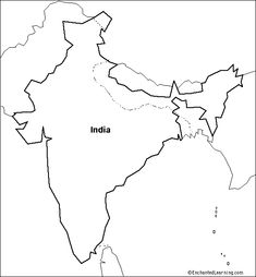 India Map Template