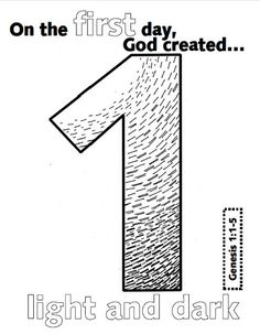 Creation bible lessons, Days of creation and Coloring